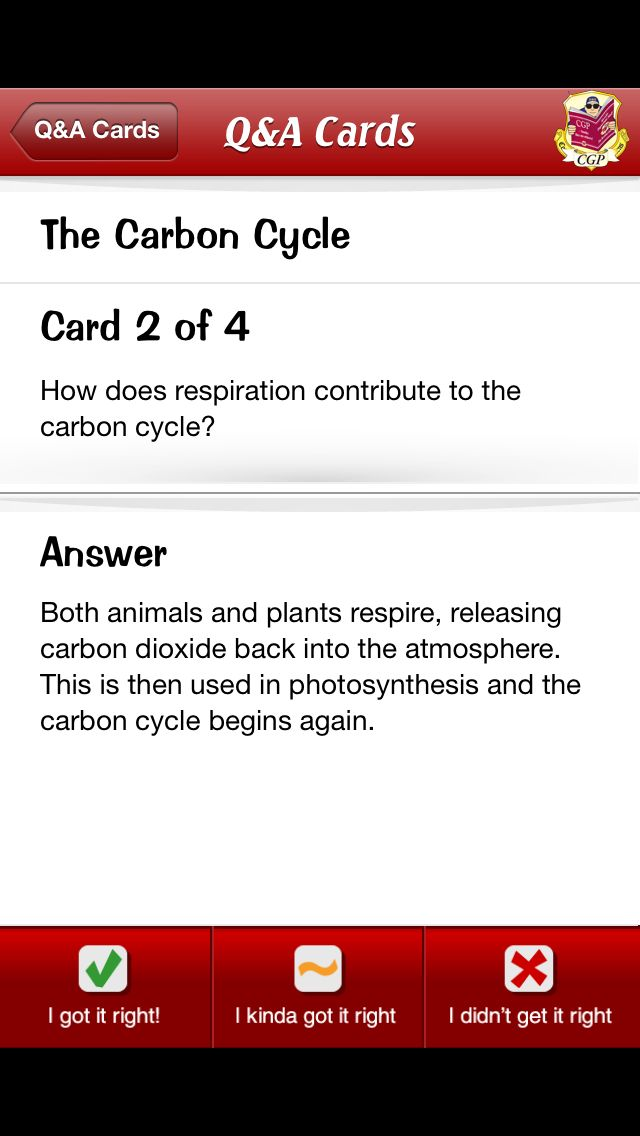Respiration in the carbon cycle.