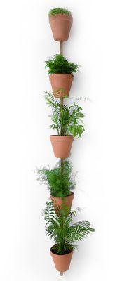 Supporto a parete XPOT / Per 5 vasi di fiori - H 250 cm