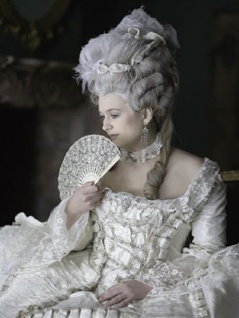 Marie Antoinette Make Up & Fan Gestures: 18th century ladies used the fan for more than keeping cool: they used it as a form of expression. More than any other article of fashion, the fan became part of a lady's body language. Supposedly, there even existed a 'language of the fan' whereby ladies could send messages across a room without saying a word. To use this language, it was essential to know your right from your left!