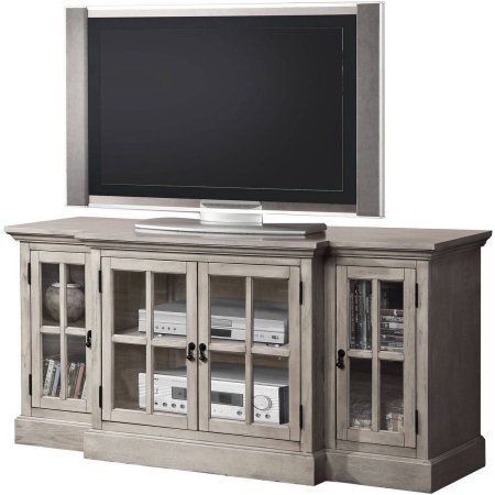 ACME Julian Sandwashed Gray TV Stand For Flat Screen TVs Up To 70