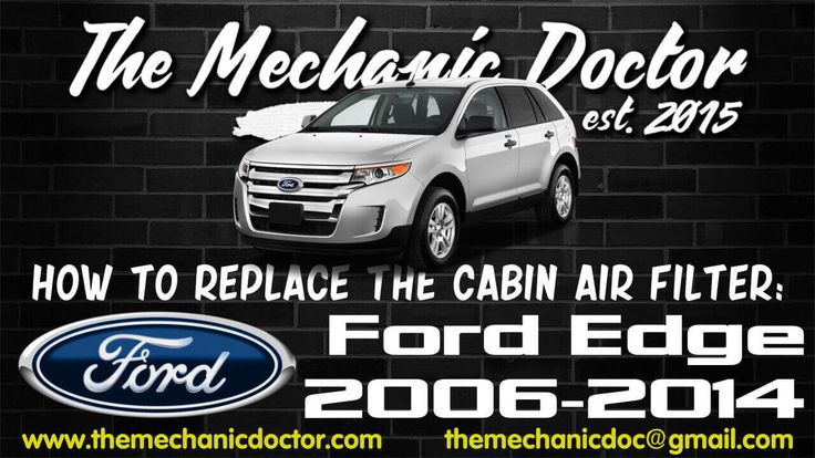 This video will show you step by step instructions on how to replace the cabin air filter on a Ford Edge 2006 - 2014.