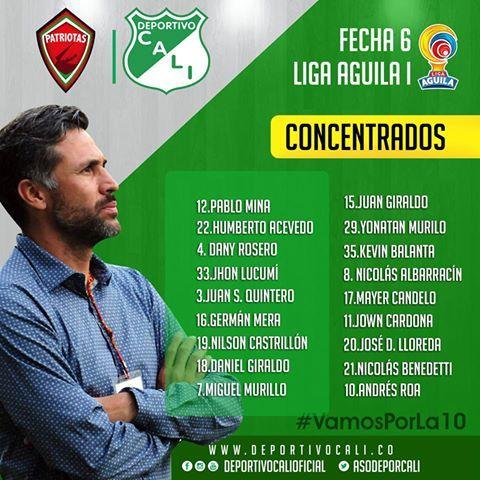 Esta es la nómina de 18 jugadores que se desplazaron a Tunja para enfrentar este sábado a Patriotas por la Liga   http://wp.me/p7aBI0-dY5