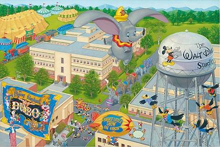 Dumbo - A Day at the Studio - Manny Hernandez - World-Wide-Art.com - $395.00 #Dumbo #Disney