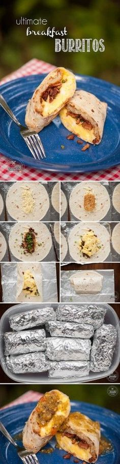 These filling and tasty Ultimate Breakfast Burritos are the perfect make ahead breakfast for any busy work week or weekend camping adventure.