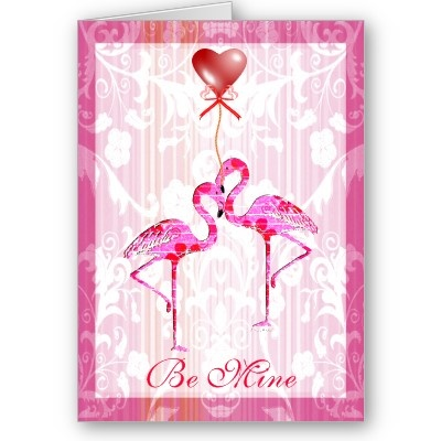 Pretty Flamingos Valentine Card