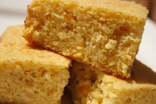 moist cornbread with creamed corn...just tried it and it is delicious!