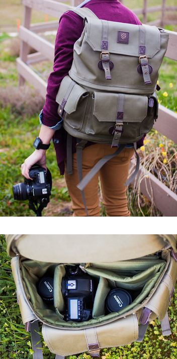 Camera Backpack by Langly. Waterproof so it's perfect for photo adventures.