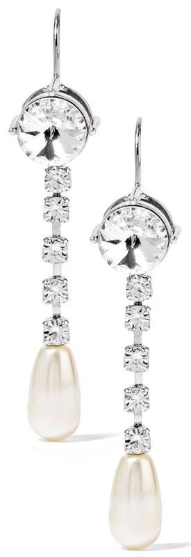 crystal drop hook earrings - Nude & Neutrals Miu Miu vVecml