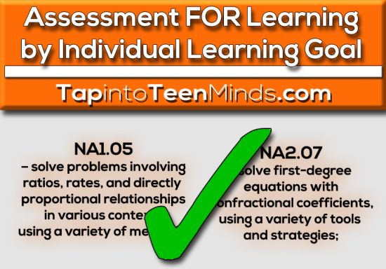 Assessment For Learning By Individual Learning Goal