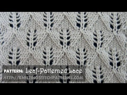 Fern or Leaf Patterned Lace - YouTube