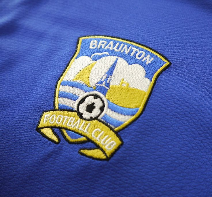 Braunton FC Badge #Braunton #Devon # Football #Closeup #Stitches