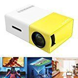 Mini Projector Deeplee Portable LED Projector Home Cinema Theater with PC USB/SD/AV/HDMI Input Pocket Projector for Video Movie Game Home Projector -Yellow #homecinemaprojector