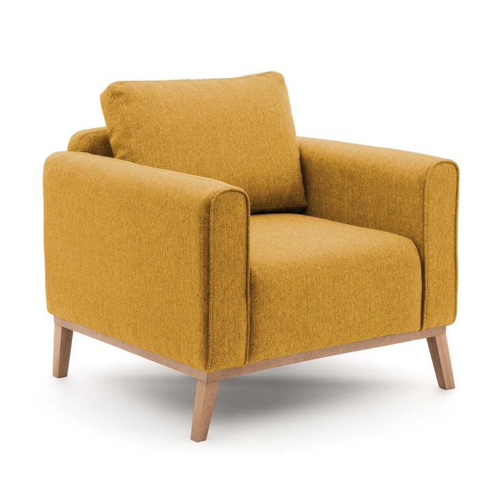 Bjorn żółty fotel