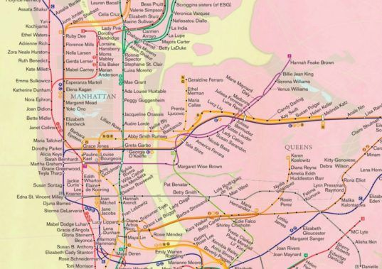'City of Women' map celebrates the great women of NYC | Inhabitat New York City