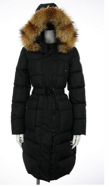 Free Shipping Moncler Melina Quilted Down Long Coat Black Women Outerwear -  $228.65 Moncler Coats http