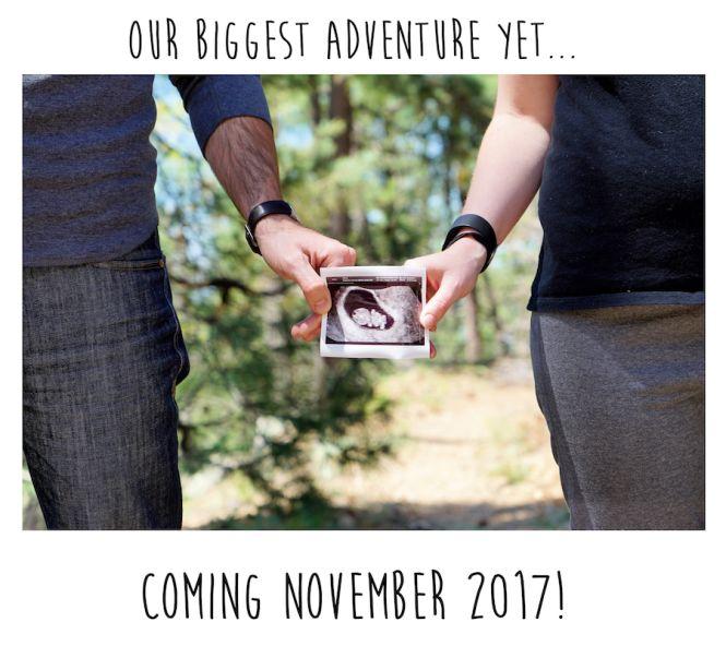 Pregnancy Announcement in the Woods | Payson, AZ | Arizona Pregnancy Announcement | Facebook Pregnancy Announcement | Cute | Pregnancy Ultrasound Announcement