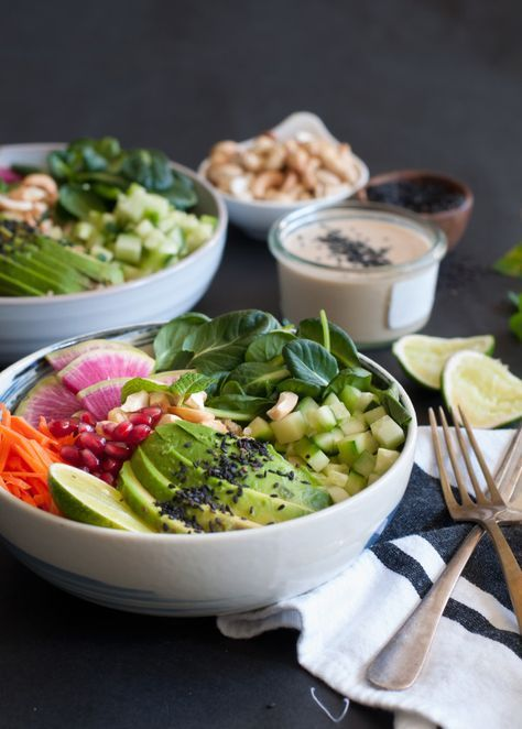 Coconut Quinoa Bowl with Tahini Lime Dressing