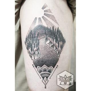 mountain river tattoo pointillism google search coole tattoos pinterest fluss und vorlagen. Black Bedroom Furniture Sets. Home Design Ideas