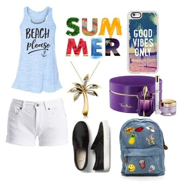 Cool for the summer by rimalee on Polyvore featuring polyvore, fashion, style, Barbour International, Allurez, Casetify, Thierry Mugler and clothing