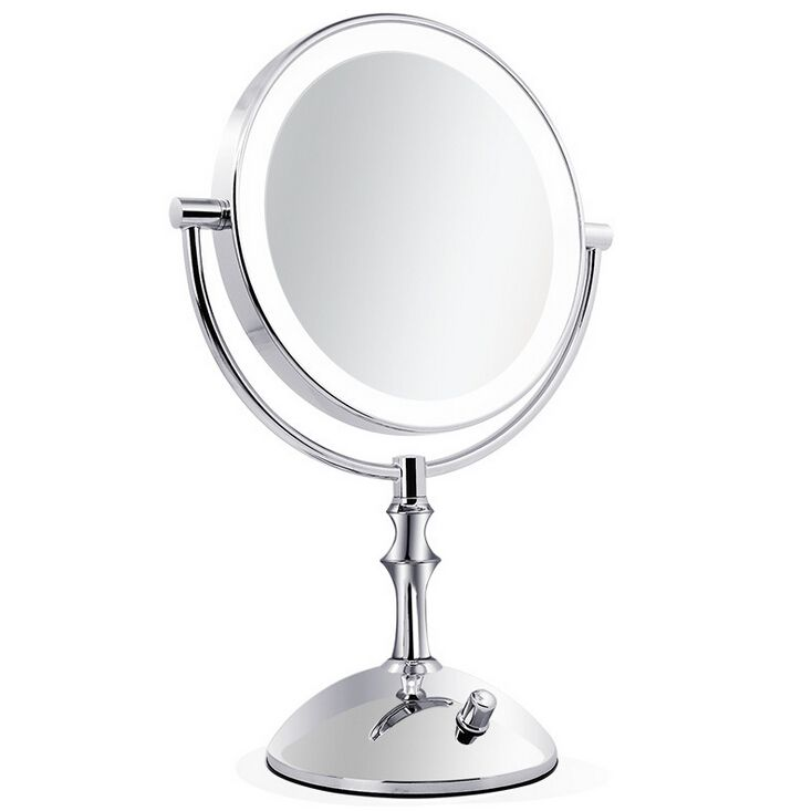Web Image Gallery Professional makeup mirror with light Inch led pact cosmetic mirror lady us X Double Sided magnifying