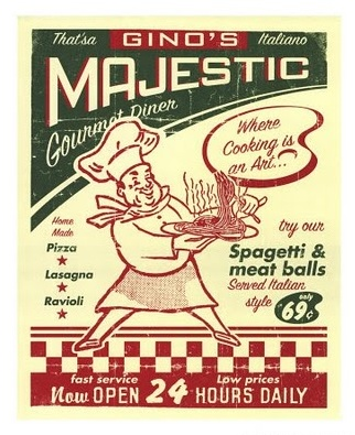 A great vintage pizza sign. Do you have any you'd like to share?  #pizzacookery