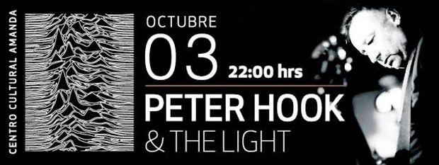 Peter Hook, uno de los músicos más importantes de Inglaterra, quien formó parte de Joy Division y New Order, se presentará junto a su banda The Light por primera vez en Chile en el Centro Cultural Amanda.