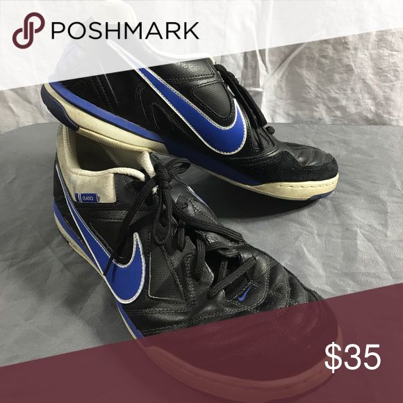 Nike Gato Mens size 11 shoes. Black, Blue, White. Nike Gato Mens size 11 shoes, black and white with blue swoosh. accept reasonable offers! (Men's shoe box 1). Nike Shoes Sneakers