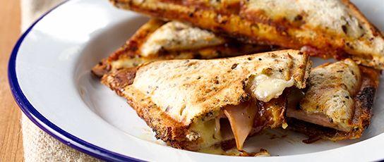 Ham, Cheese & Caramelised Onion Jaffle