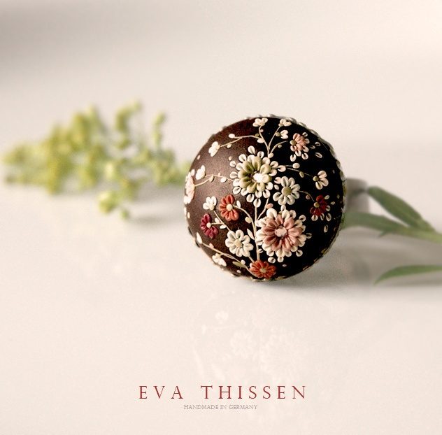 Nocturne. Beautiful polymer clay ring. Made to order by Eva Thissen Gallery, via Flickr