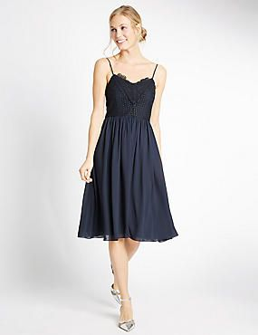 Floral Lace Slip Dress