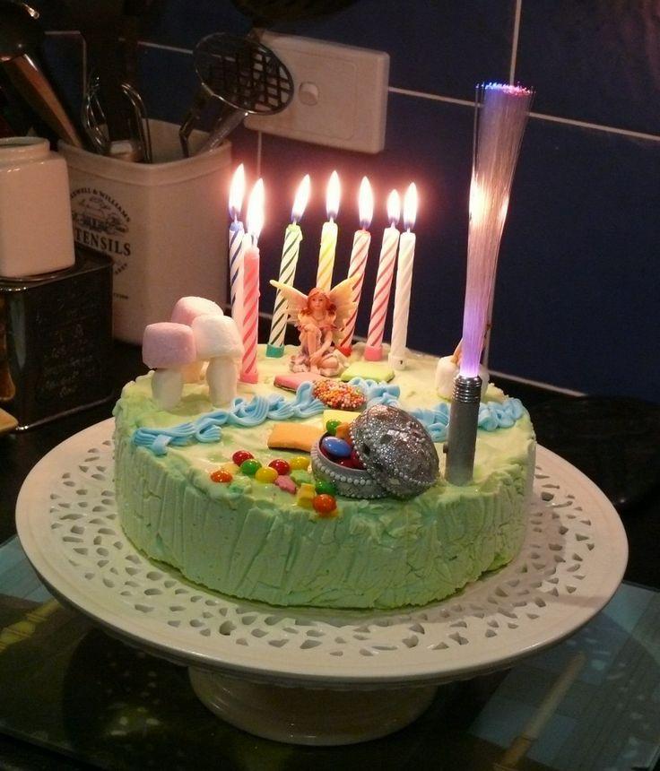 Magical fairy garden ice-cream cake