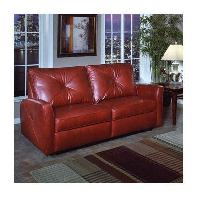 Omnia Leather Bahama Leather Reclining Loveseat Upholstery: Softsations - Swiss Coffee