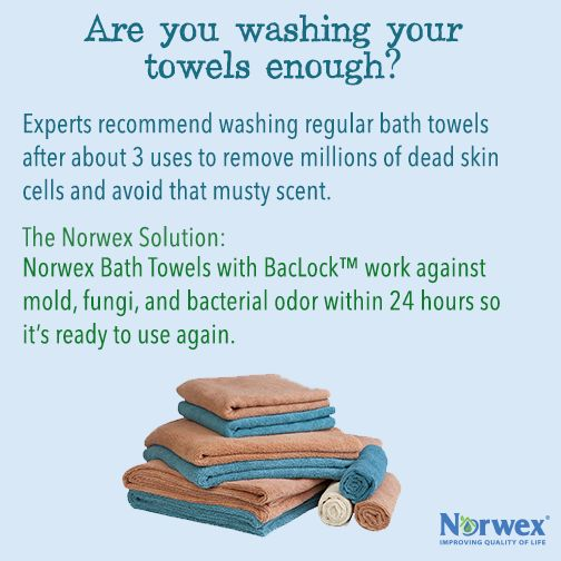 For bath towels,experts recommend washing after about three uses.This not only removes the millions of dead skin cells often found on towels but also helps avoid a musty scent.According to dermatologists,face towels should be replaced after every use if you don't want to reintroduce bacteria to your pores.The BacLock™ in the Microfiber-our micro silver agent-goes to work with self-purification properties against the mold,fungi&bacterial odor within 24 hours.email me at…