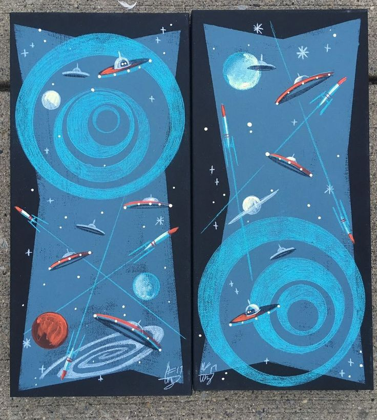 17 best ideas about retro rocket on pinterest retro for Retro outer space