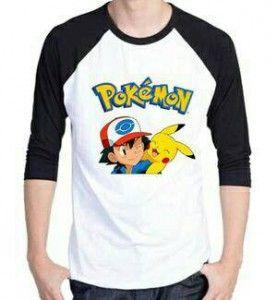 Tshirt Kaos Pria Pokemon Man MTFA02