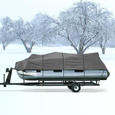 Pontoon Boat Cover Gray Fits 17'-19' Beam 96""