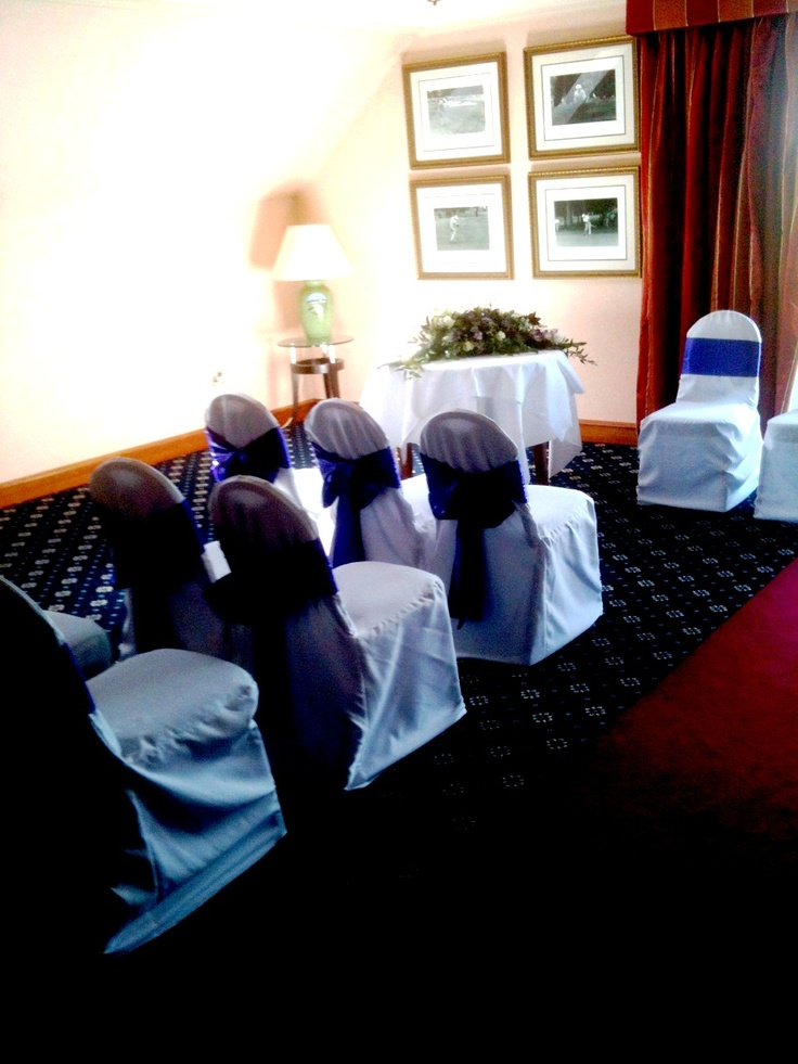 The Hogan Suite can be used for your Wedding Ceremony with views overlooking the Championship Golf Course hosting up to 55 guests.