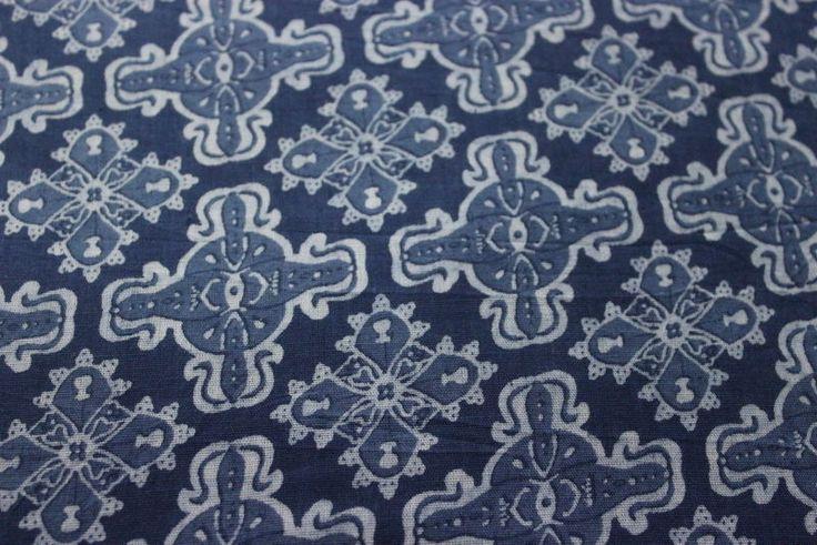 Indian Pure Cotton Fabric Handmade Indigo Blue Fabric Hand Block Print Fabric #KhushiHandicraft