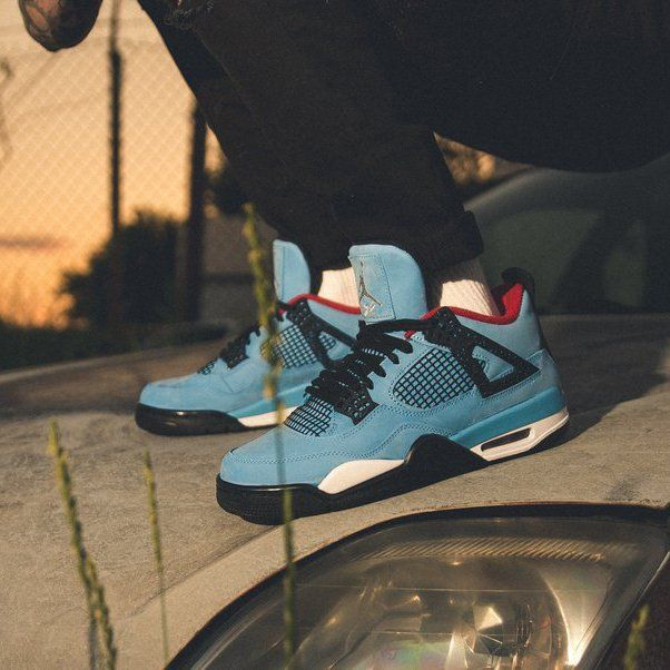 size 40 24eef e2ff2 Jordan 4 Retro Travis Scott Cactus Jack | Shoe Designs in ...