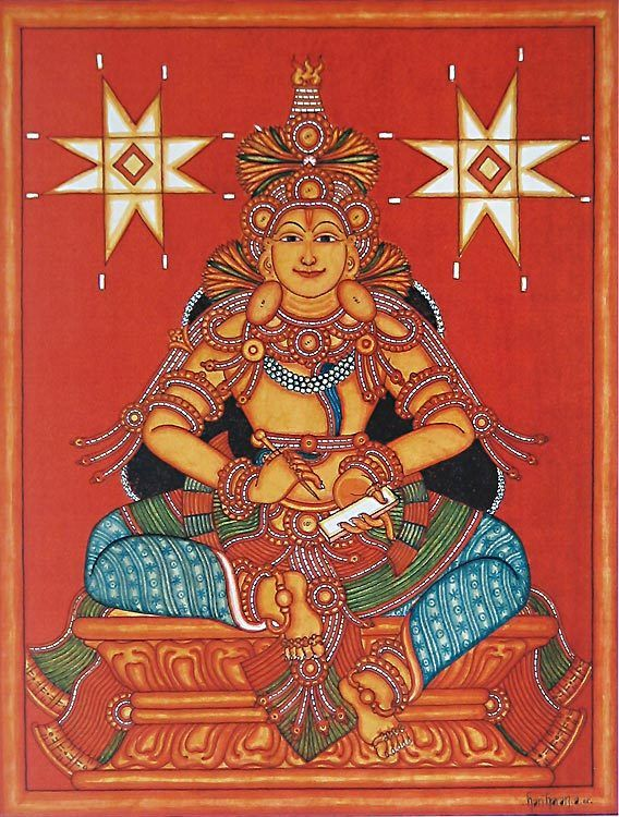 Goddess Bhagawati (Reprint on Paper - Unframed)