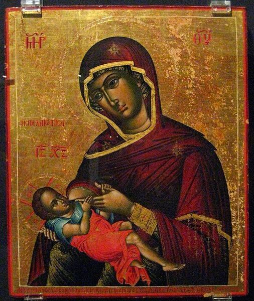 The Mother of God nurses her Son