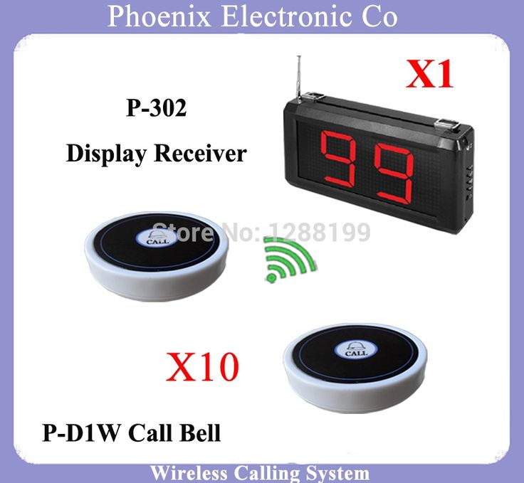 (150.00$)  Know more  - Waiter Calling System Or Nursing Call System With Button Of A Call Of The Waiter And Display Receiver,1 pcs Display & 10 Bell