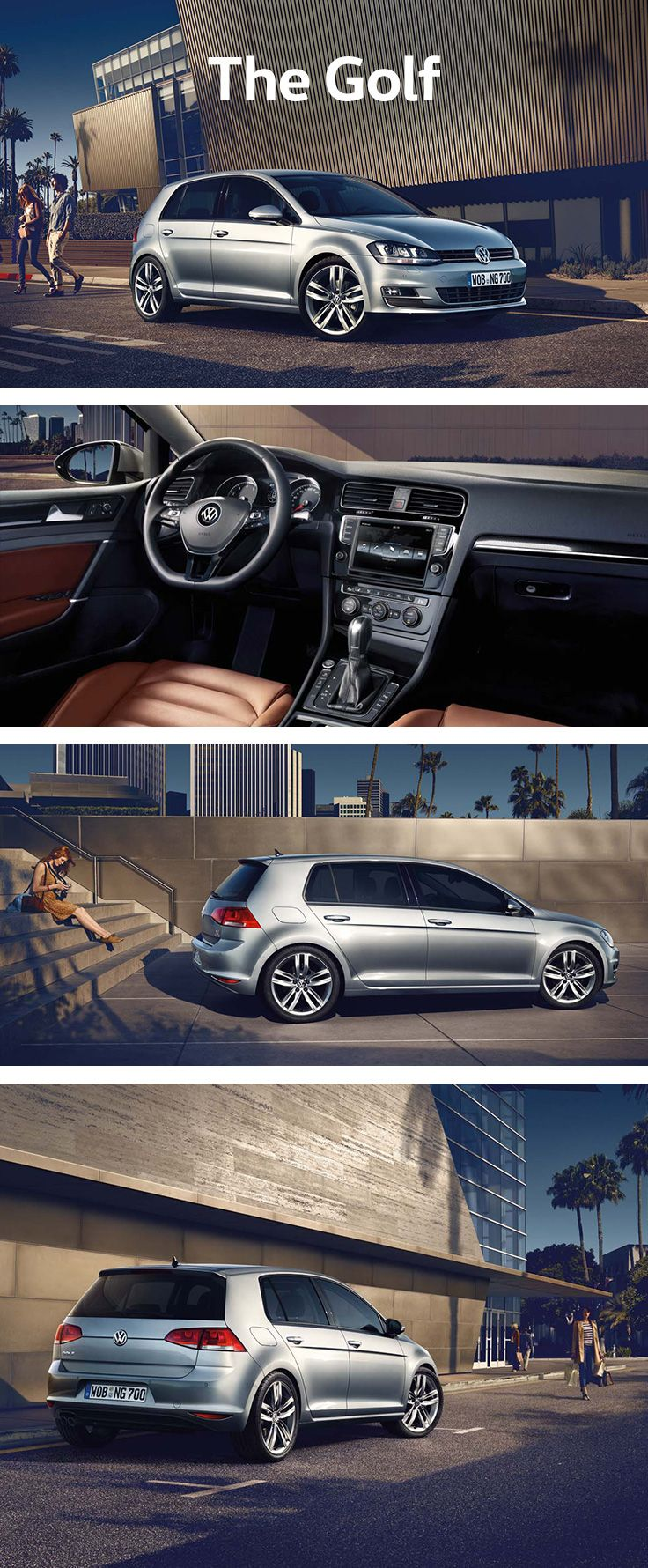 For easy everyday use, the Volkswagen Golf is a compact car with an especially low boot sill and height-adjustable boot floor for loading and unloading heavy items. Its characteristic silhouette with the C-pillar remains essential to the design – while the extended wheelbase, shorter projections and precise lines lend the Golf timeless, elegant dynamics.