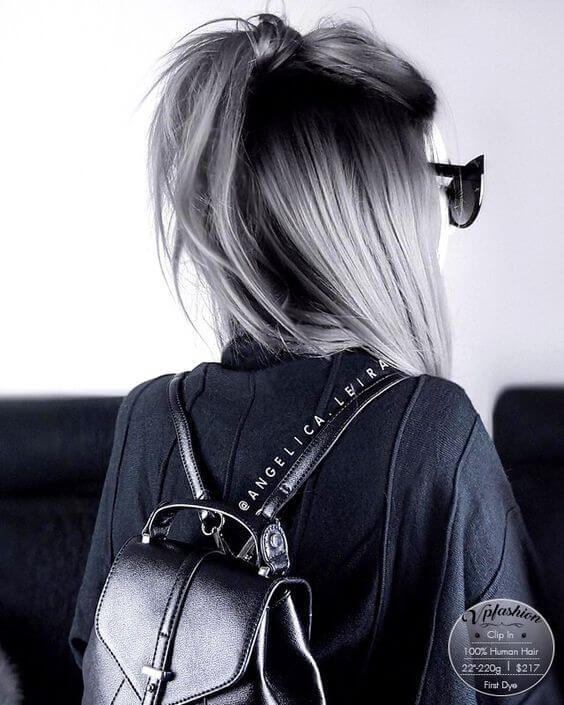 25 Silber Haarfarbe Sieht absolut herrlich aus – Neue Damen Frisuren