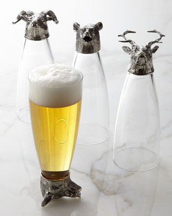 Four Animale Assorted Pilsner Glasses by Arte Italica at Neiman Marcus.