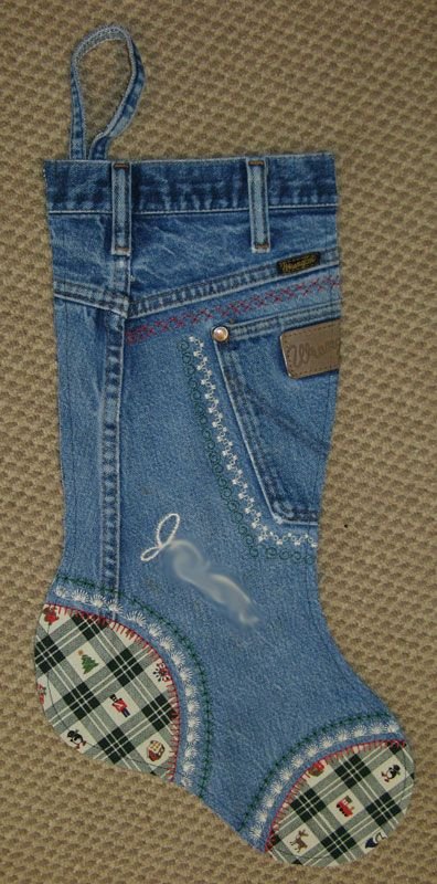 Nebraska Views: Denim Jeans Christmas Stockings