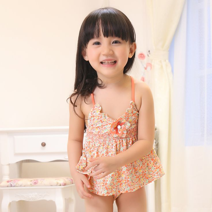 2014 New Swimwear Girl Pink Floral Print Swimsuit Child Lovely Two Piece Skirt And Top With Hat Free Shipping-in Two Pieces from Apparel & Accessories on Aliexpress.com | Alibaba Group