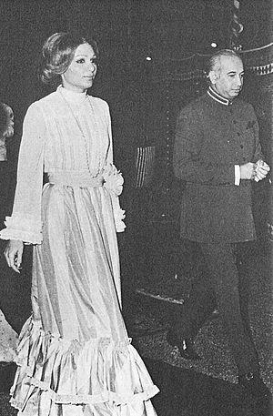 Schahbanu Farah Pahlavi meets Zulfikar Ali Bhutto