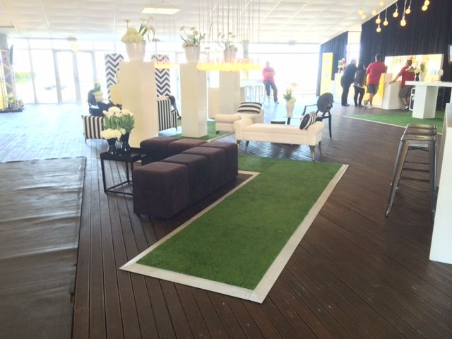 Astroturf floor for MTN party - for Red Hot