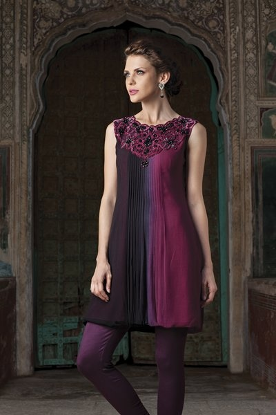 Georgette kurti with thread and bead work, priced at $119.